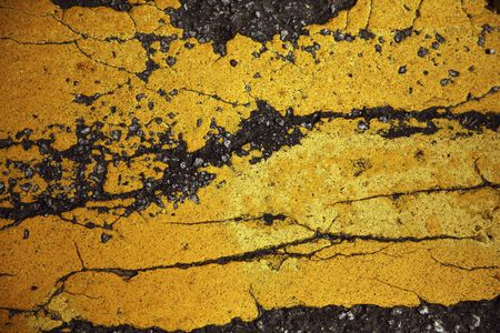 Cracks on painted road Stock Photo - 6807765