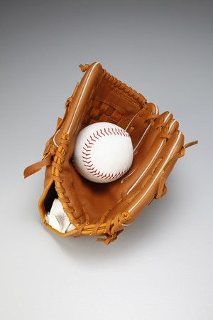 things that go together: Baseball glove with baseball