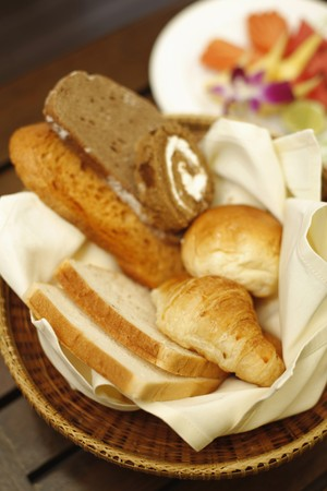 Basket of pastries photo