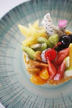 Fruit tart dessert photo