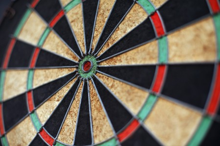 Close-up of dartboard photo