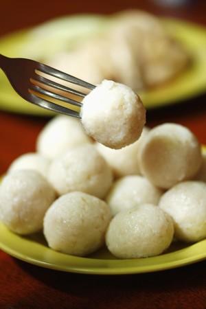 Hainanese chicken rice ball