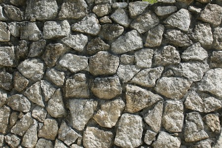 toughness: Stone wall Stock Photo
