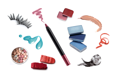 Collection of various make up accessories Фото со стока - 75500370