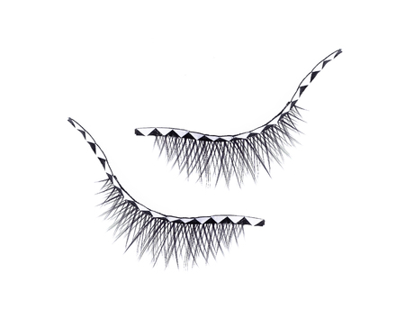 False eyelashes isolated on white Stock Photo