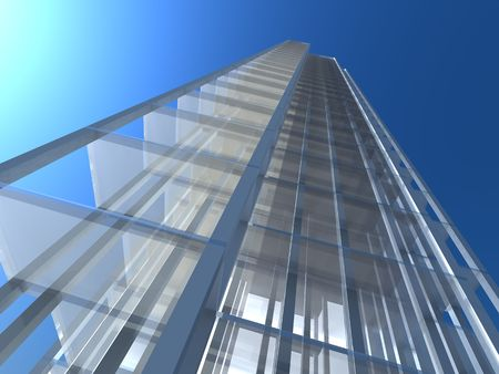 3D Architectural abstract. Concept - building, architecture, construction and skyscrape. photo