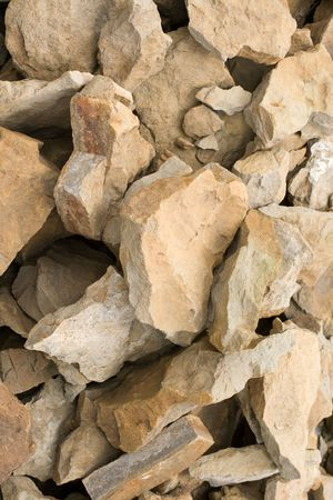 rockfall: Facing stone - sandstone. Building material for decorating socle, pedestal and facade.