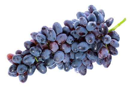 Bunch of sweet grapes. Isolated. photo