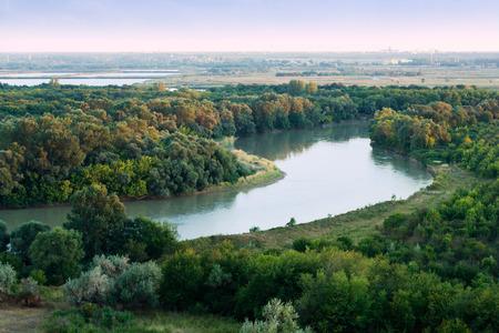 kuban: Kuban river. Northern Caucasia. Stock Photo