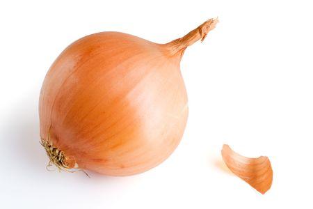 onion isolated: Cebolla. Aislado en blanco.  Foto de archivo
