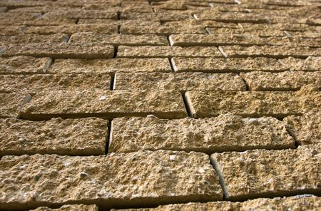 texture of brown antique stone wall photo