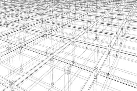 3D 추상 - 건축 무한한 표면
