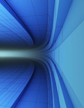 3d 추상적 인 푸른 건축 공사 스톡 콘텐츠