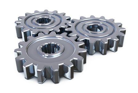 concepto de tecnología industrial. aislado en blanco Foto de archivo - 3764315