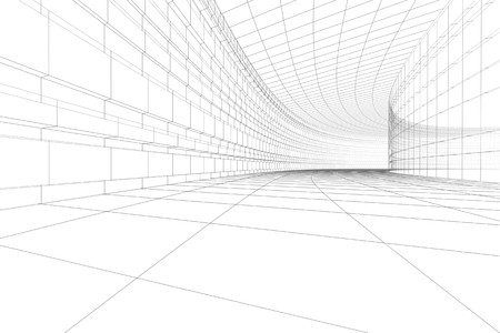 Abstract architectural BW background Stock Photo - 4125152