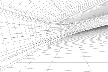 Abstract architectural BW background Stock Photo - 4175953