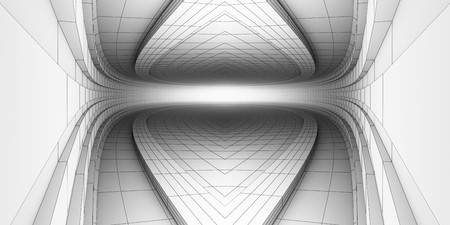 bw: BW abstract techology room Stock Photo