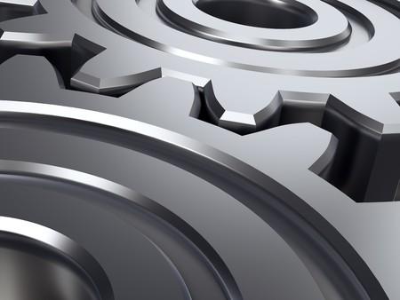 Abstract gears. 3D illustration. Stock Illustration - 4312265