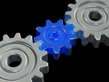 Concept of teamwork. 3D illustration Stock Illustration - 4527811