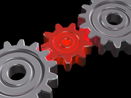 Concept of teamwork. 3D illustration Stock Illustration - 4527808