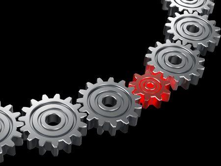 Concept of teamwork. 3D illustration Stock Illustration - 4527812