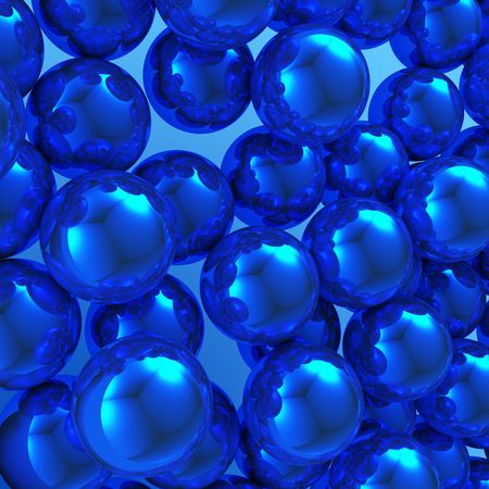 blue abstract balls with reflections Stock Photo - 4637102