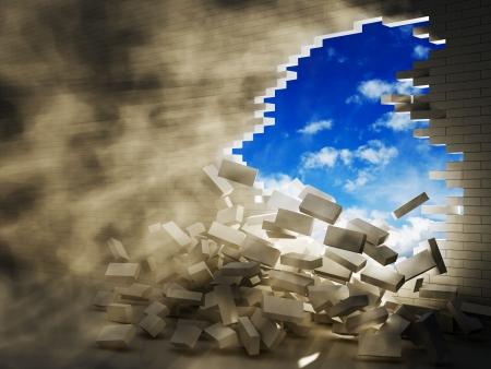 파괴 세력의 개념 3 스톡 콘텐츠