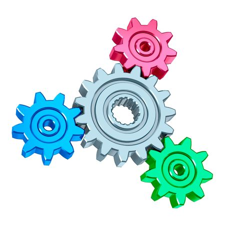 Abstract gears mechanism. Teamwork concept. Stock Photo - 6636712