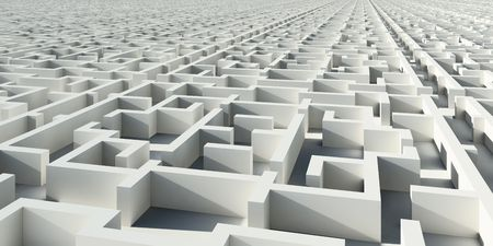Abstract infinity construction like maze Stock Photo