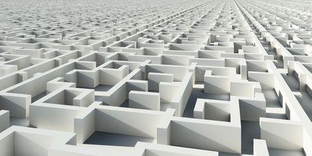 Construcción de infinito abstracta como laberinto Foto de archivo - 6636715