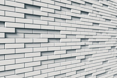 texture of white brick wall Stock Photo