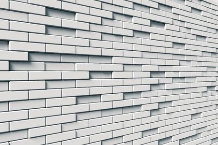 texture of white brick wall Stock Photo