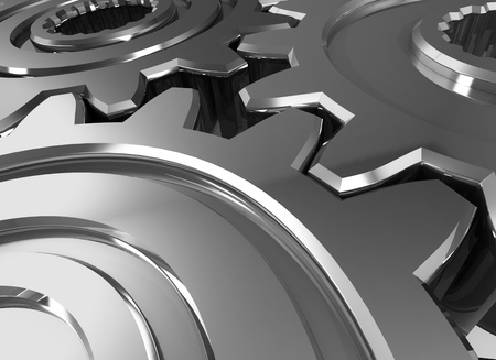 industrial element: Abstract gears. 3D illustration. Stock Photo