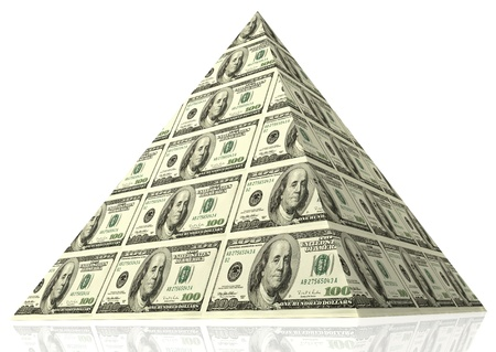 financial stability: Abstract money pyramid - financial concept.