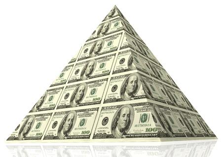 dinero: Pir�mide de dinero abstracto - concepto financiero.