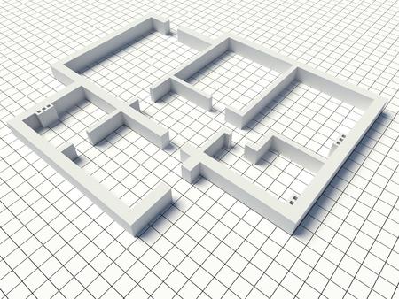 추상 건축 건설입니다. 아키텍처 및 디자인 개념입니다. 스톡 콘텐츠