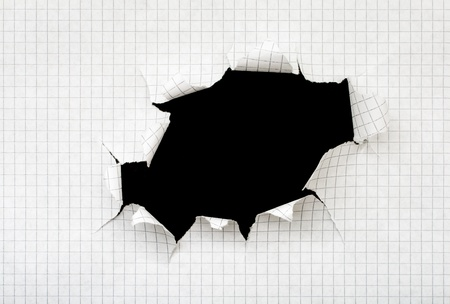 Black hole in a sheet of paper Stock Photo - 9366365