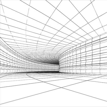 터널 - 추상 건축 벡터 건설
