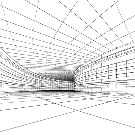 Tunnel - abstract architectural vector construction Stock Photo - 9562734