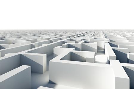 추상 무한대 퍼즐 미로.