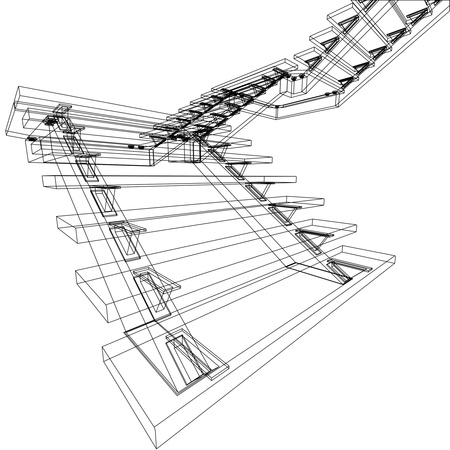 abstract sketch of stairs Stock Photo
