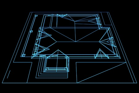 Abstract drawing house plan. Architectural 3d illustration. illustration