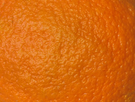Macro shot of an orange skin.