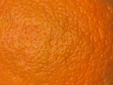 Macro shot of an orange skin.