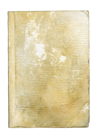 Cover of old book (after 15 year use). Stock Photo
