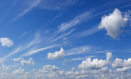 High clouds on high sky. Stock Photo
