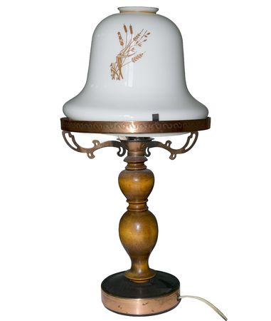 Oude lamp. Koper ornament