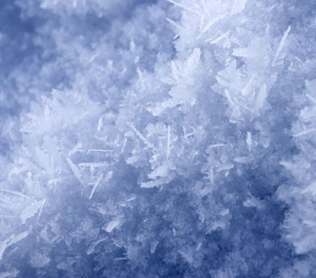 Greater crystals of an ice. Long needles under the bright sun photo