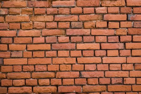 xx century: Brick wall. An old bricklaying (the beginning-middle of XX century)