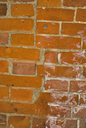 xx century: Brick wall. An old bricklaying (the middle of XX century)